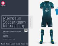 Men's Full Soccer Team Kit Mockup V7