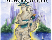 New Yorker cover; Love in NY