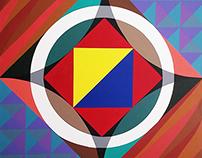 MODERN PAINTING - Frank Stella Inspired