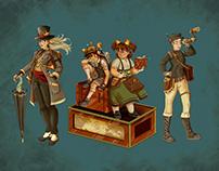 Diseño de personajes steampunk
