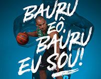 Anúncio de Parceria Bauru Shopping e Bauru Basket