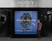 Window display for Sony store