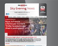 DEM newsletter design review for SKY television