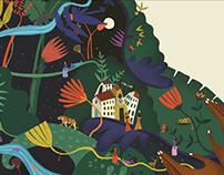 WIP People & Wildlife Book illustration- Short stories
