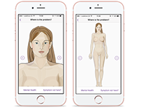 Body illustration for medical triage app