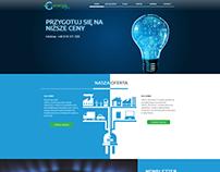 Energia i gaz -  projekt WWW