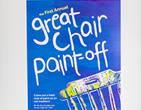 2017 Chair Paint Off Poster