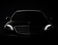 Mercedes-Benz S-class landing page