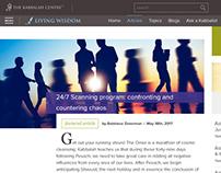"""Responsive design for the """"Living Wisdom"""" website"""