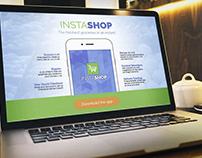 InstaShop Landing Page