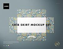 Crib Skirt Mockup Set