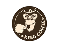 """Logo for the coffee shop """"King Coffee"""""""