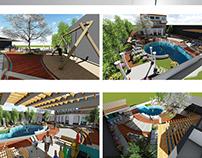 villa landscape - landscape design project