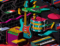 Indie Rocks! Magazine / Cover art