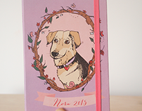 Nora Planner - Portrait Illustration 2015 | Bookbinding
