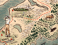 Golf Magazine Illustrated Map Editorial. Aug 19