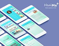 HealMe+ Mobile Application UI/UX design