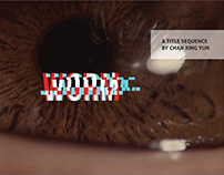 Title sequence for WORM – Motion Graphics