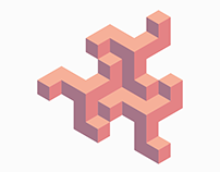 Isometric3d pattern red