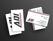 ADI logo and business cards