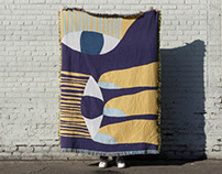 Woven blanket collaboration with Slowdown studio