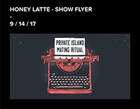 Honey Latte - Show Flyer