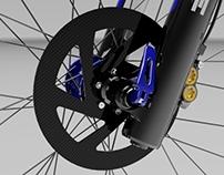 Carbon fiber disc brake
