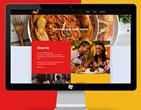 A Restaurant website design