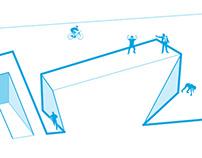 Masterplan/illustrazione per progetto urbano