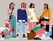 Two Styles of Girls illustrations