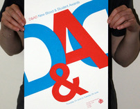 Screenprinted poster for the D&AD New Blood UWE stand