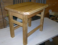 Child's Scottish Oak Footstool