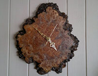 Bespoke Hardwood Wall Clocks