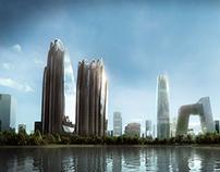 Chaoyang Park Plaza - MAD Architects