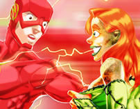 Harley and Ivy VS Flash