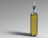 3D renders of oil bottle (2013)