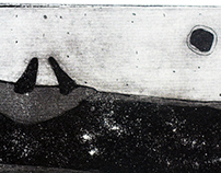 Etching, aquatint ''In the boat''