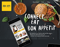 Landing Page to Download Bon App!