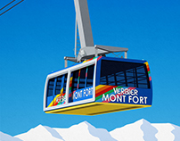 Verbier Mont Fort Ski Poster