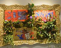 Moss Graffiti installation @ MoCADA, BK, NY