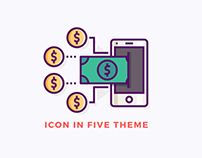 Icon in five theme