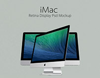 iMac Retina Display Psd Mockup