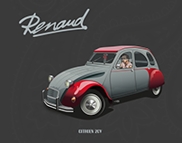 Car Illustration - Citroën 2cv - Renaud