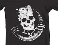 Grunge Skeleton Funny Design T-Shirt