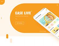 Ease Live app design