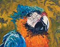 Big Parrot Painting