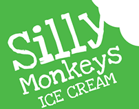 Silly Monkeys Ice Cream - Logo Design
