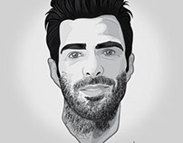 Zachary Quinto - Vector Illustration