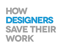 How designers save their work ?