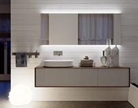 """Bathroom viz """"Planeta"""" night & day"""